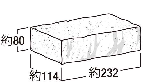 アルジー・ブリック-寸法図-笠木