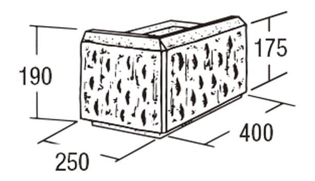 ABロック3°-寸法図-コーナー(左用)