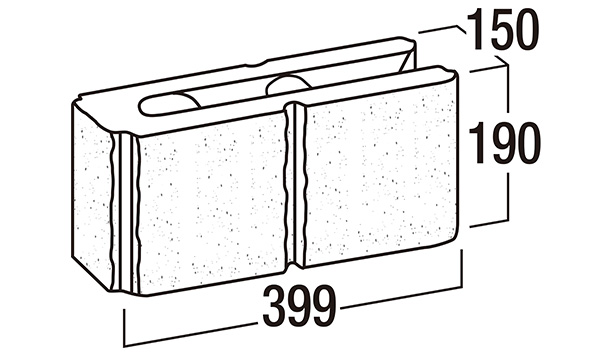 リブロックRX-寸法図-150-2Wコーナー