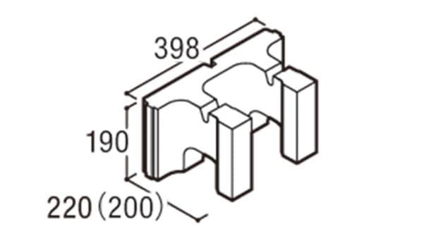 RECOM スクエア-寸法図-200ハンチ用