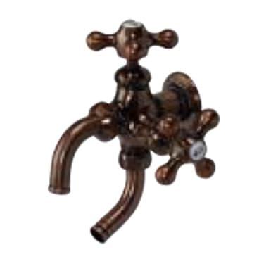 オアシスシリーズ/ガーデニング水栓-カラーバリエーション-双口ハンドル(ブロンズ)<br>研磨メッキあり