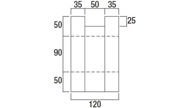 グラニットスクリーン・サークル-寸法図-配筋溝形状図