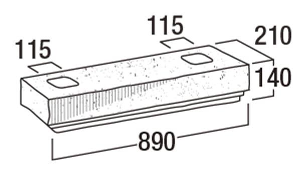 こたたき900-寸法図-90洋門柱・90YMN