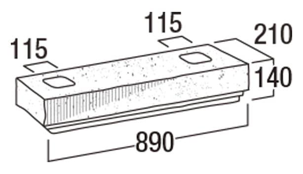 大谷900-寸法図-90洋門柱・90YMN