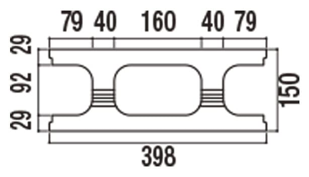 RECOM フラット-寸法図-150基本上部