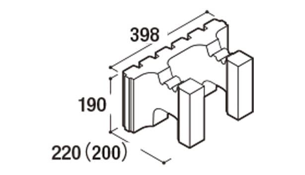 RECOM 6RB-寸法図-200ハンチ用