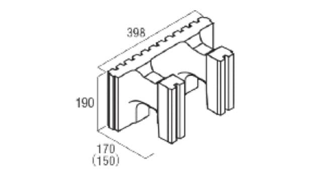 スマート型枠-寸法図-ハンチ用