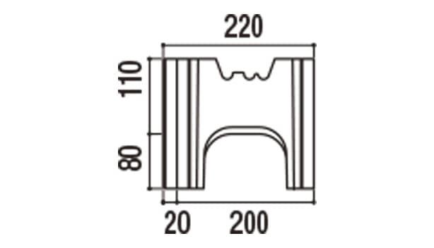 RECOM 6RB-寸法図-200基本側面