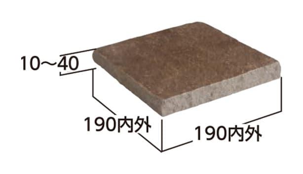 ジャワ鉄平 方形-寸法図-2・2