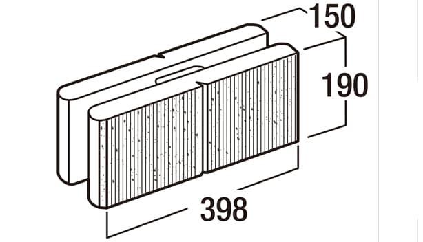スクエアC-寸法図-150基本形横筋