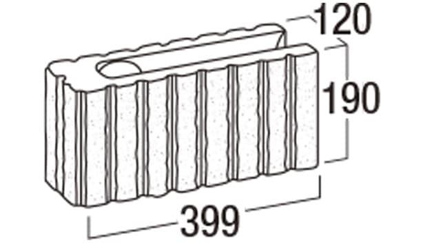 リブロックRX-寸法図-8Wコーナー