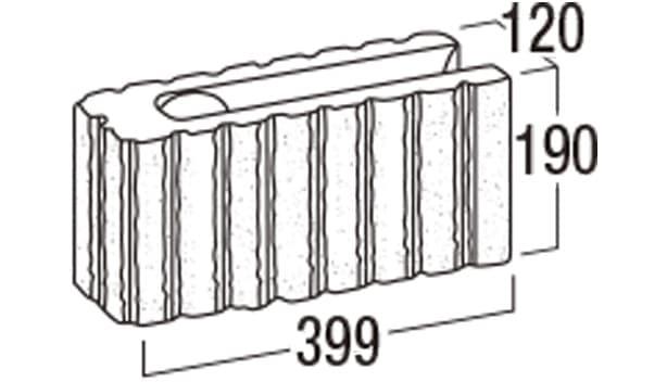 リブロックF-寸法図-8Wコーナー