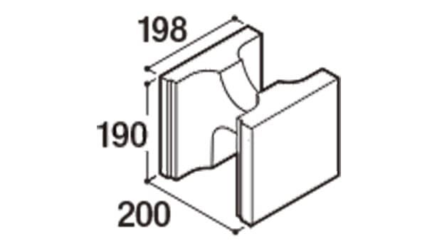 RECOM フラット-寸法図-200基本1/2
