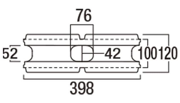 リブロックRX-寸法図-2W基本形横筋上部