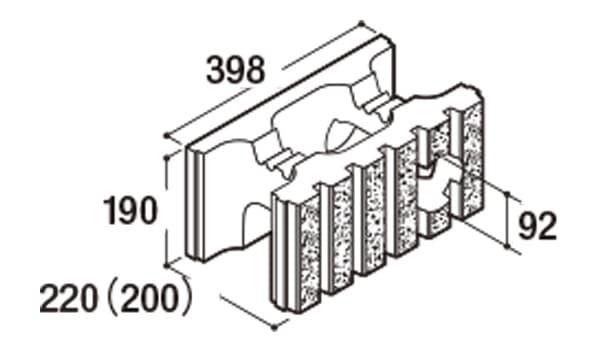 RECOM 6RB-寸法図-200水抜き用