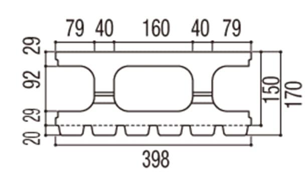 RECOM 6RB-寸法図-150基本上部