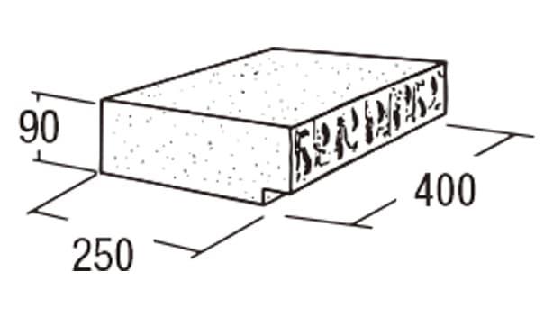 ABロック3°-寸法図-キャップ