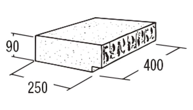ABロック12°-寸法図-キャップ