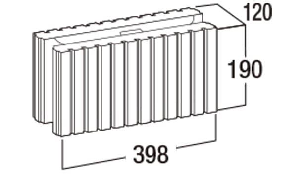 スマートC-寸法図-120基本形横筋