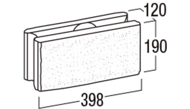 リブロックRX-寸法図-1W基本形横筋