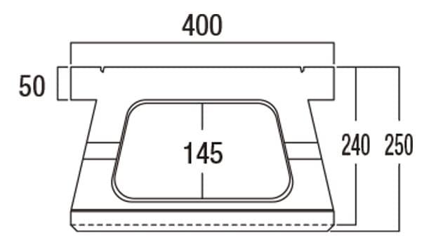 ABロック3°-寸法図-基本上部形状