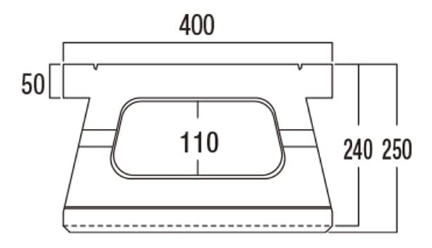 ABロック12°-寸法図-基本上部形状