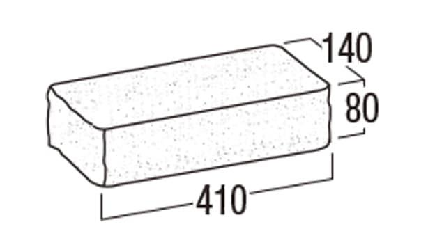 リブロックRX-寸法図-1Wコーナー笠木