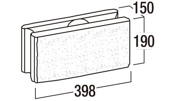 リブロックRX-寸法図-150-1W基本形横筋