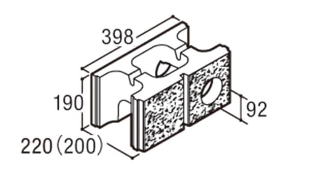 RECOM スクエア-寸法図-200水抜き用