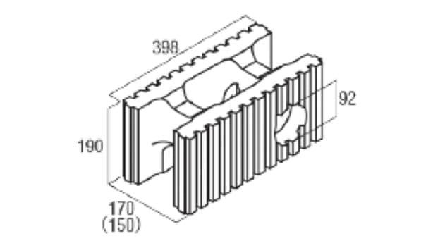 スマート型枠-寸法図-水抜き用