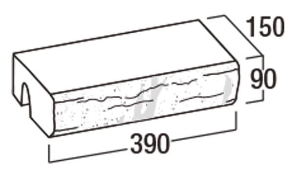 ピッチフェイス100/200-寸法図-笠木50-K