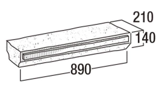 大谷900-寸法図-笠木・90-K
