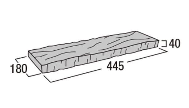 ラスティック450-寸法図-笠木