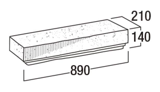 こたたき900-寸法図-90洋門笠・90YMK