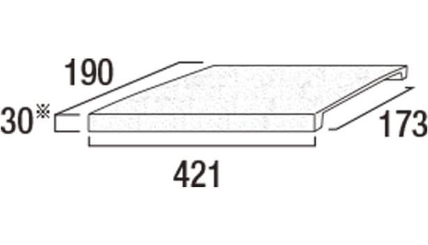 プライムキャップ-寸法図-190コーナーB
