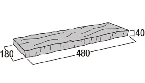 ボーダー450-寸法図-コーナー笠木