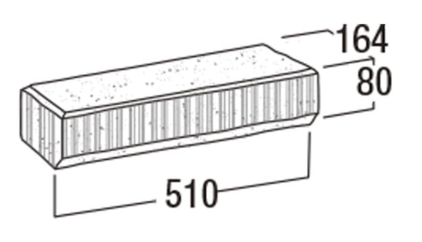 ニューライン500-寸法図-コーナー笠木・50-CK