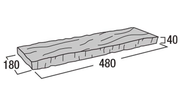 ラスティック450-寸法図-コーナー笠木