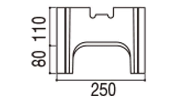 RECOM フラット-寸法図-250基本側面