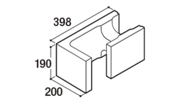 RECOM フラット-寸法図-200コーナー隅角部用