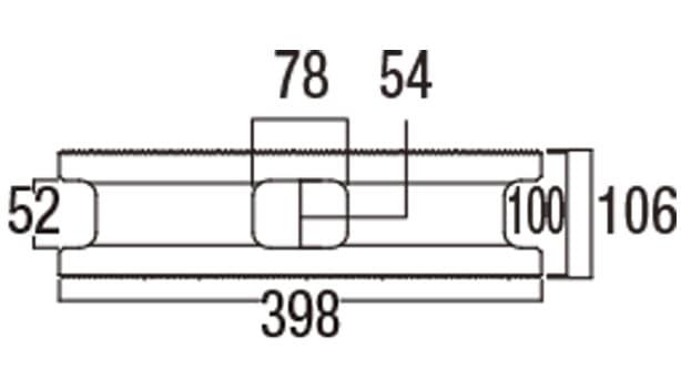 スーパーC種-寸法図-106基本形横筋上部