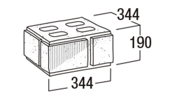 本みかげ500-寸法図-35門柱・35MN