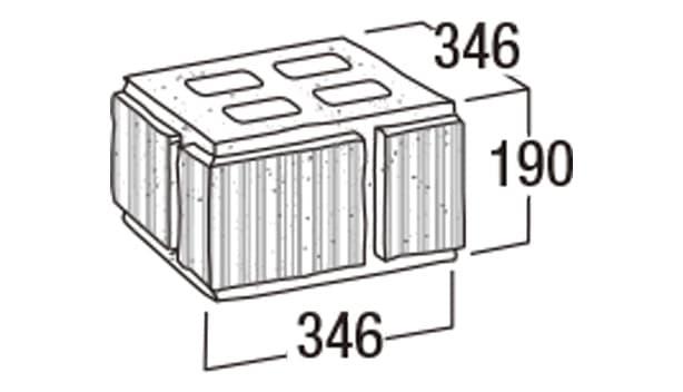 ニューライン500-寸法図-35門柱・35MN