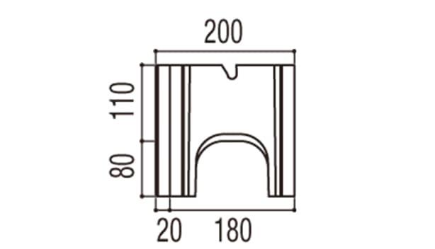 RECOM 6RB-寸法図-180基本側面
