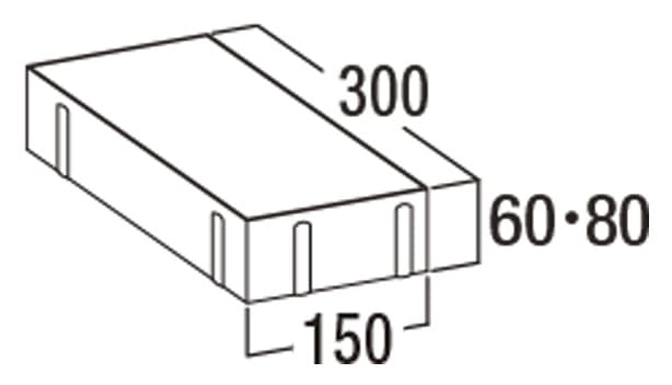 オールラウンドペイブ・スルー-寸法図-3156/3158