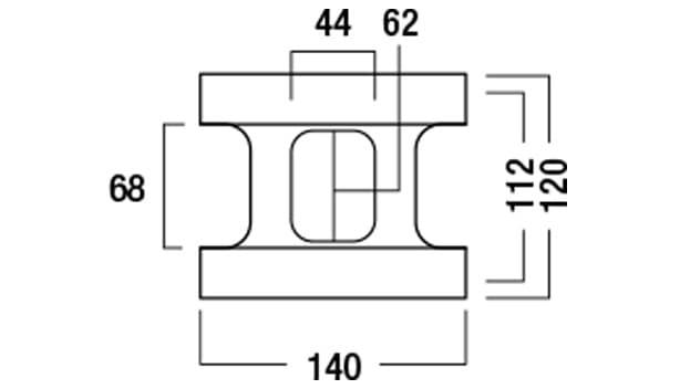 ブリエコロン-寸法図-基本形横筋上部形状