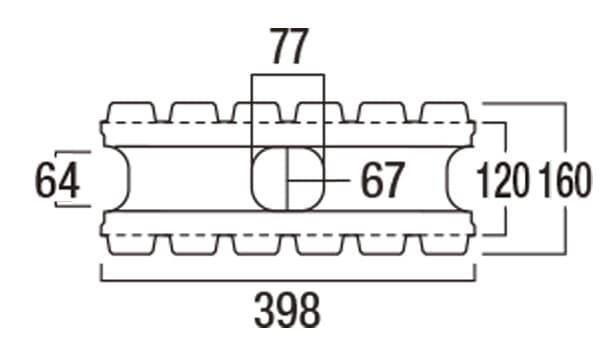 REリブ6RB-寸法図-基本形横筋上部