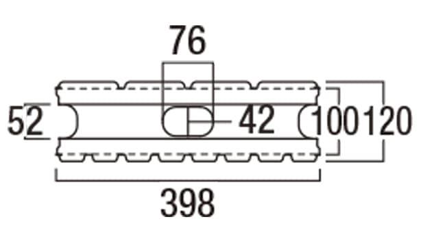 リブロックF-寸法図-8S基本形横筋上部