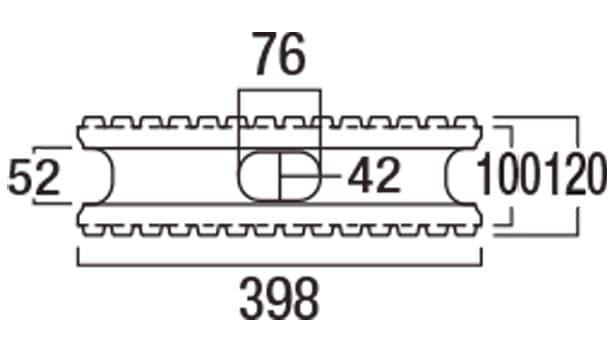 スレンダーリブ-寸法図-基本形横筋上部