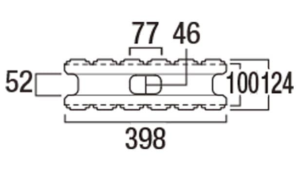 エスビー・ステアリブ-寸法図-基本形横筋上部